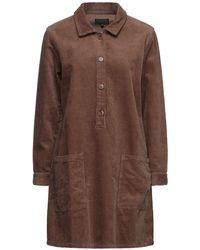 Le Mont St Michel Short Dress - Brown