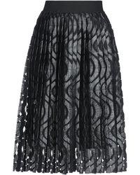 Trussardi Midi Skirt - Black