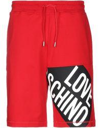 Love Moschino Shorts & Bermuda Shorts - Red