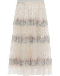 Rochas 3/4 Length Skirt - White