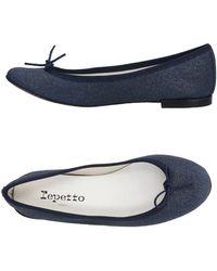 Repetto Ballet Flats - Blue