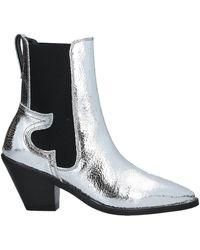 AllSaints Ankle Boots - Metallic