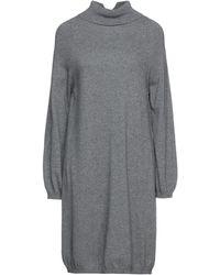Blue Les Copains Short Dress - Grey