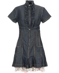 2W2M Short Dress - Blue