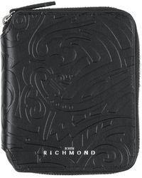 John Richmond Brieftasche - Schwarz