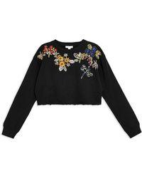 TOPSHOP Sweatshirt - Black