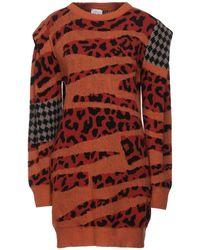 VIKI-AND Short Dress - Orange