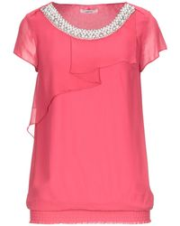 LUCKYLU  Milano Blouse - Pink