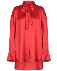 MSGM Camicia - Rosso