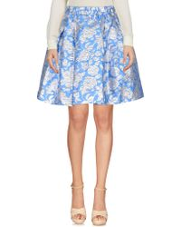 MSGM | Floral Pleated Skirt | Lyst