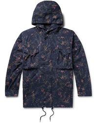 Nonnative + Liberty London Hunter Printed Cotton-twill Hooded Field Jacket - Blue