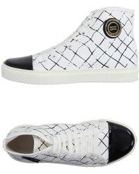 Elisabetta Franchi Sneakers abotinadas - Blanco