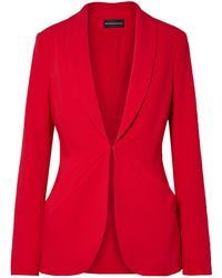 Brandon Maxwell Suit Jacket - Red