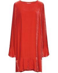 Essentiel Antwerp Short Dress - Red