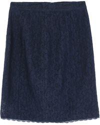Frankie Morello Knee Length Skirt - Blue