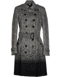 Burberry Prorsum - Woolsilk Tweed Coat with Detachable Fur Collar - Lyst