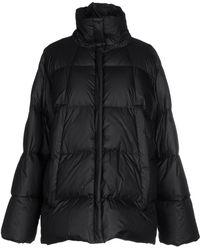 Maison Margiela Alpaca Vest With Leather & Nylon Jacket - Black