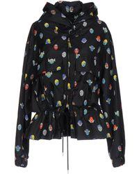 Stella McCartney Hooded Superhero-Print Wind Jacket - Black