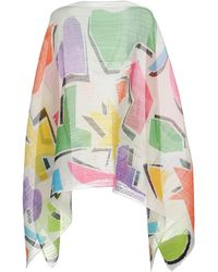 Pleats Please Issey Miyake Capes & Ponchos - White