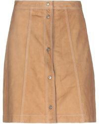 7 For All Mankind Mini Skirt - Natural
