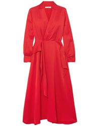Equipment 3/4 Length Dress - Red
