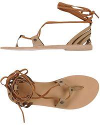 Valia Gabriel - Toe Strap Sandals - Lyst