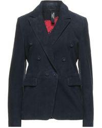 Vintage De Luxe Suit Jacket - Blue