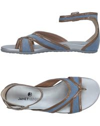 Janet & Janet - Toe Strap Sandals - Lyst