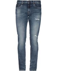 Bikkembergs Pantalon en jean - Bleu