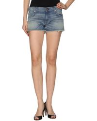 Textile Elizabeth and James - Denim Bermudas - Lyst
