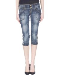 S.o.s By Orza Studio - Denim Capris - Lyst