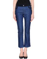 Miu Miu Denim Trousers - Blue