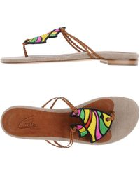 CARLA SAINT-BARTH - Toe Post Sandal - Lyst