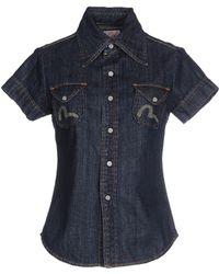 Evisu - Denim Shirt - Lyst