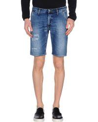 People Bermuda Shorts - Blue
