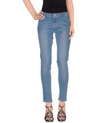 Jaggy Denim Pants - Blue