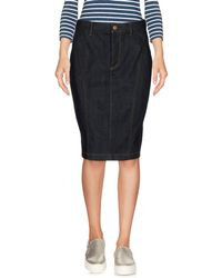 Burberry Brit - Denim Skirt - Lyst
