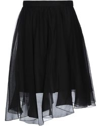 Alberta Ferretti Knee Length Skirt - Black