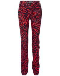 CALVIN KLEIN 205W39NYC Denim Trousers - Red