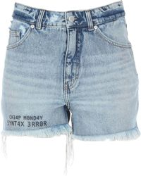 Cheap Monday Denim Shorts - Blue