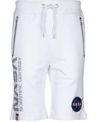 Alpha Industries Shorts & Bermuda Shorts - White