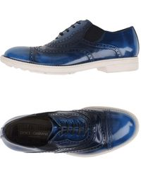 Dolce & Gabbana Lace-up Shoe - Blue