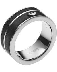 Emporio Armani Ring - Schwarz