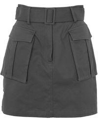 8 by YOOX Mini Skirt - Gray