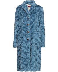 The Gigi Teddy coat - Blu
