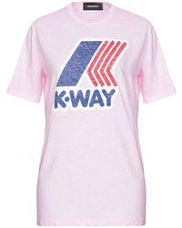 DSquared² T-shirt 'K-Way' - Rosa