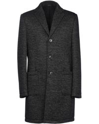 Grey Daniele Alessandrini Coat - Black