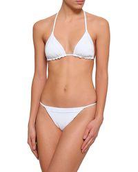 Tori Praver Swimwear Slip mare - Bianco