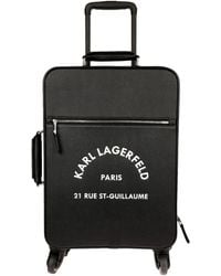 Karl Lagerfeld Valise à roulettes - Noir
