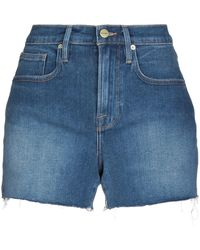 FRAME - Shorts vaqueros - Lyst